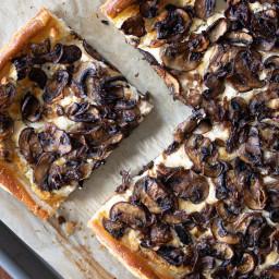 Mushroom Goat Cheese Tarte