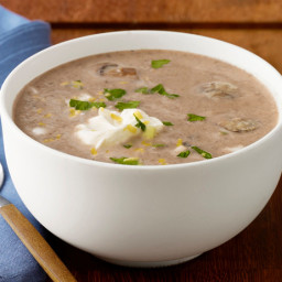 Mushroom-Hummus Soup