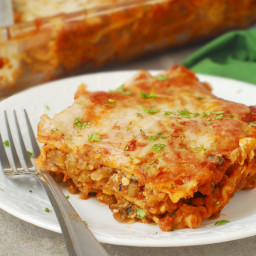 Mushroom Lentil Vegetarian Lasagna