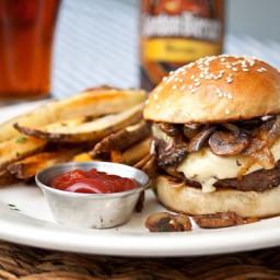 Mushroom, Onion and Swiss Burger