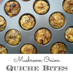 Mushroom Onion Quiche Bites