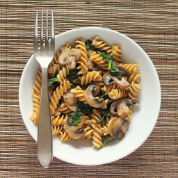Mushroom pasta with fresh herbs