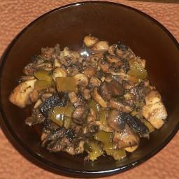 Mushroom Pepper Saute