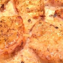 Mushroom Sauce Baked Pork Chops