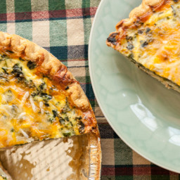 Mushroom, Spinach and Ham Quiche