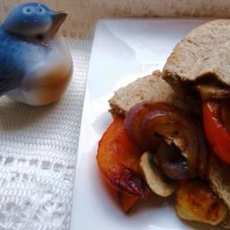 Mushroom-Stuffed Pita