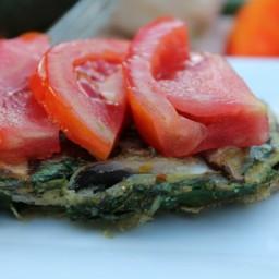 Mushroom & Swiss Chard Frittata Bake