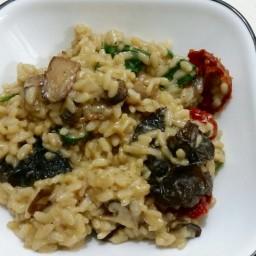 Mushroom, Tomato, and Sundried Tomato Risotto
