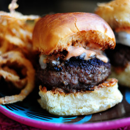 Mushroom and Swiss Sliders with Spicy Fry Sauce
