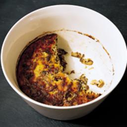 Mushroom, Leek and Parmesan Bread Pudding