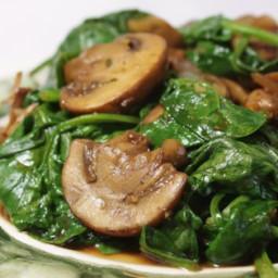 Mushrooms and Spinach Italian Style Recipe