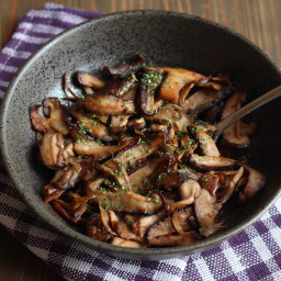 Mushrooms with soy sauce