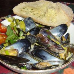 Mussels Dijonaise