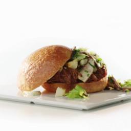Mustard and Brown Sugar BBQ Beef Sandwiches