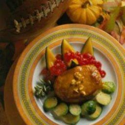 Mustard-Bourbon Pork Chops