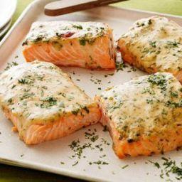 Mustard-Maple Roasted Salmon