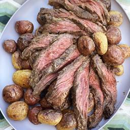 Mustard-White Wine Marinated and Grilled Wagyu Bavette Steak