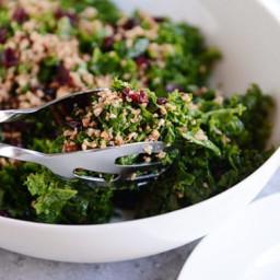 My Favorite Kale Salad {Lemon Vinaigrette + Pecan Parmesan}
