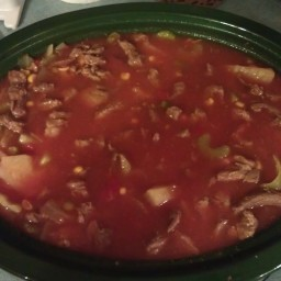 My mom's Vegetable Soup in Crock Pot