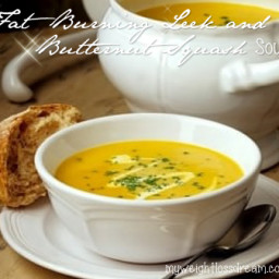 My Super Tasty Fat Burning Leek and Butternut Squash Soup
