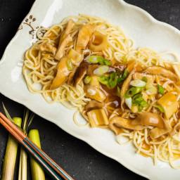 Nagoya-Style Ankake Spaghetti With Bamboo Shoots