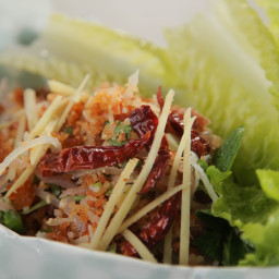 Nam Kao: Lao Crispy Fried Rice Ball Salad
