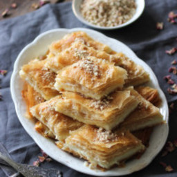 Nammoora: Phyllo Pastry with Semolina Cream Filling