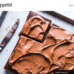 Nana's Chocolate Vinegar Cake (Bon Appétit magazine, Alaina Sullivan)