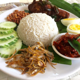 Nasi Lemak (Coconut Milk Steamed Rice) 椰浆饭