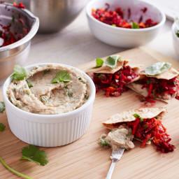 Navy Bean Hummus and Mixed Vegetable Pita Pockets