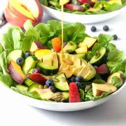 Nectarine Avocado Salad with Smoked Paprika