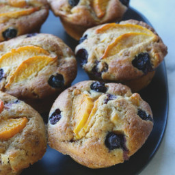 Nectarine + Blueberry Muffins