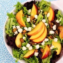 Nectarine, Feta and Pistachio Salad