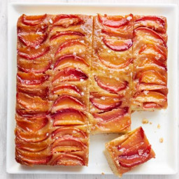 Nectarine Upside-Down Cake with Salted Caramel