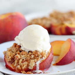 Neilson Stuffed Baked Peaches, GF, LF VG. With out toppings