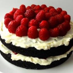 New Meal Monday: Chocolate Raspberry Cake with Mascarpone Cream