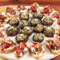 New Year's Eve Veggie Appetizers (Appetizers for 6-8)Spinach and Parmesan S