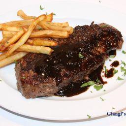 New York Steak au Poivre with Balsamic Vinegar