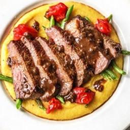 New York Strip Steak w/Balsamic Reduction