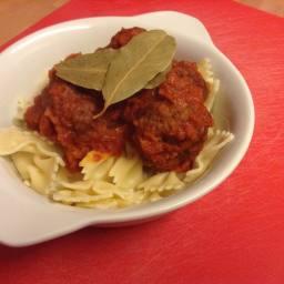 Nice Tasting meatballs and pasta sauce