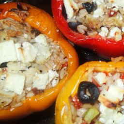 Nick's Feta and Artichoke Stuffed Peppers Recipe
