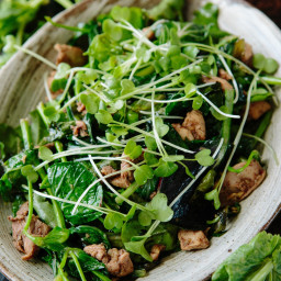 Nigel Slater's Five-Spice Chicken and Pea Shoot Salad