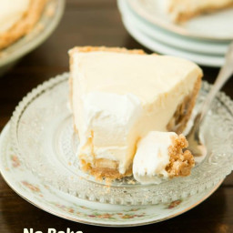 No Bake Banana Cream Pie with Nilla Wafer Crust