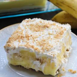 No Bake Banana Pudding Layer Dessert