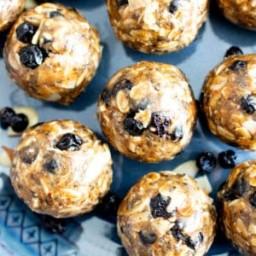 No Bake Blueberry Almond Chia Energy Bites (Vegan, Gluten Free, Dairy-Free,