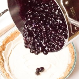 No Bake Blueberry Pie