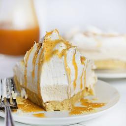 No-Bake Caramel Shortbread Pie