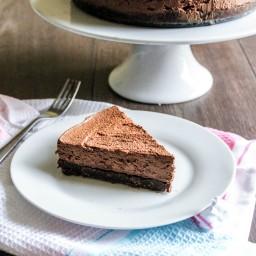 No bake dark chocolate mascarpone cheesecake