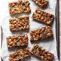 No-Bake Granola Bars with Maple-Sweetened Dark Chocolate {GF + V}