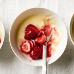 No-Bake Lemon Custards With Strawberries